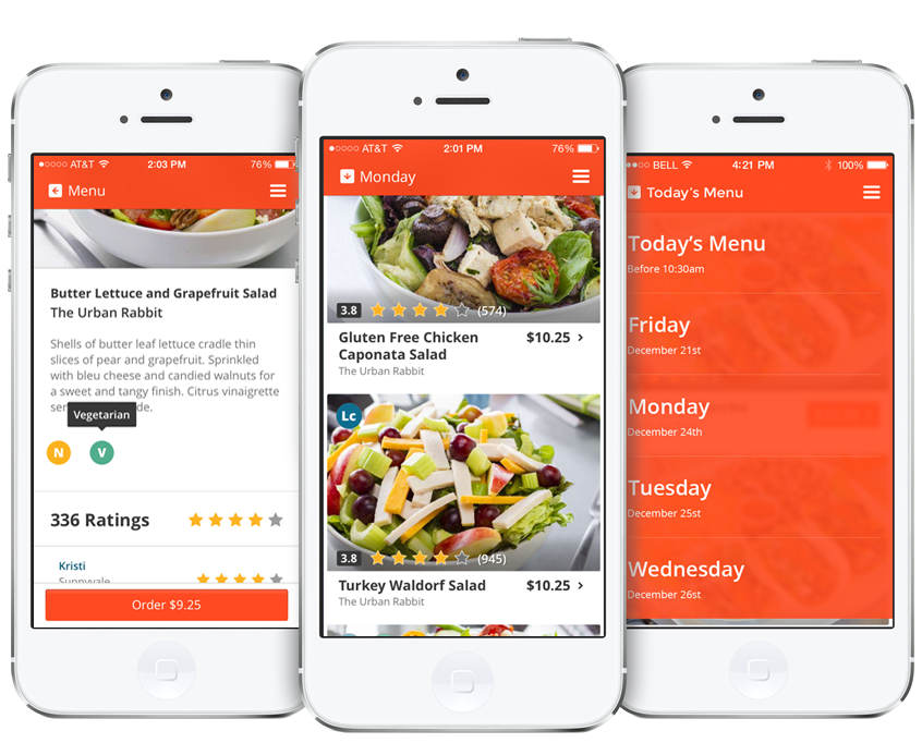 eat club app designs
