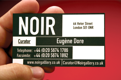 Noir Business Card Back